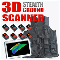 3d stealth jacket drs ground penetrating radar scanner