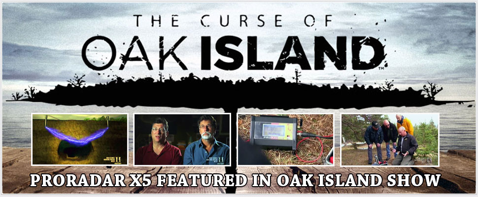 DRS Proradar X5 at oak-island treasure hunting show